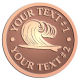 Ace Recognition Copper Buckle - with your text and logo - waves, surfboard, surfing, surfers, surf, tropical, tropics, water, wind, boarding, dynamic, energy, sea, speed, splash, sport
