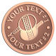 Ace Recognition Copper Buckle - with your text and logo - ping pong, paddles, table tennis