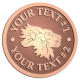 Ace Recognition Copper Buckle - with your text and logo - lions, lion heads, emblems, symbols, themes, animals, zoo, jungle