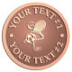Ace Recognition Copper Buckle - with your text and logo - .