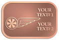 Ace Recognition Copper Buckle - with your text and logo - bikers, bikes, flying, gear, grunge, grungy, moto, motors, motorbike, motorcycles, motorsport, motox, races, racers, recreation, rides, riders, rim, safety, speed, start, track, transport, transportation, tyre,  vehicles, wheel, wings