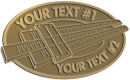 Ace Recognition Gold Buckle - with your text and logo - Hobbies - slide rule - your text, metal