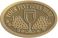 Ace Recognition Gold Buckle - with your text and logo - Winery, sommelier, wine glasses, grapes, alcohol, beverages, celebrations, cellars, classical, corks, drinks, food, fruit, goblets, grapes, grapevines, restaurant, romantic, tavern, vintage, vine, wine tasting, wine-testers, wine testers