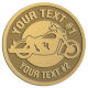 Ace Recognition Gold Buckle - with your text and logo - Motorcycle Designs - motorcycle - bike - your text, transportation, metal  chopper