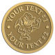 Ace Recognition Gold Buckle - with your text and logo - Sports, mascots, sharks, high school, college, university