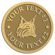 Ace Recognition Gold Buckle - with your text and logo - Sports, mascots, animals, high school, college, university