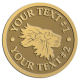 Ace Recognition Gold Buckle - with your text and logo - lions, lion heads, emblems, symbols, themes, animals, zoo, jungle
