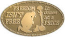 Ace Recognition Gold Buckle - with your text and logo - Military - Fallen Soldier Memorial - Freedom isn