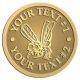 Ace Recognition Gold Buckle - with your text and logo - Sports, mascots, insects, flies, bees, wasps, high school, college, university