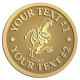 Ace Recognition Gold Buckle - with your text and logo - Sports, mascots, dinosaurs, high school, college, university