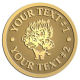 Ace Recognition Gold Buckle - with your text and logo - Sports, mascots, lions, cats, high school, college, university