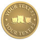 Ace Recognition Gold Buckle - with your text and logo - cats, kittens, felines, pets