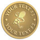 Ace Recognition Gold Buckle - with your text and logo - .