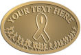 Ace Recognition Gold Buckle - with your text and logo - attitude, awareness, breast, cancer, celebrate, celebration, challenge, charity, courageous, health, hope, marathon, medical, miracle, pink, race, recover, recovery, ribbon, run, support, survival, survive, survivor, symbol, symbolic, therapy