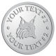 Ace Recognition Pewter Buckle - with your text and logo - Sports, mascots, animals, high school, college, university