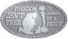 Ace Recognition Pewter Buckle - with your text and logo - Military - Fallen Soldier Memorial - Freedom isn