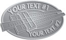 Ace Recognition Pewter Buckle - with your text and logo - Hobbies - slide rule - your text, metal