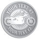 Ace Recognition Pewter Buckle - with your text and logo - Motorcycle Designs - motorcycle - bike - your text, transportation, metal  chopper,