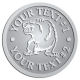 Ace Recognition Pewter Buckle - with your text and logo - Sports, mascots, bears, grizzlies, high school, college, university