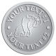 Ace Recognition Pewter Buckle - with your text and logo - Sports, mascots, gorillas,primates, high school, college, university